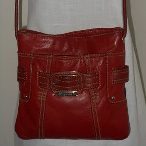 TIGNANELLO RED LEATHER CROSSBODY SHOULDER BAG